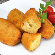 Stock Photo: Croquettes of potatoes