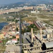 View of industrial area of Bagnoli Naples — Stock Photo