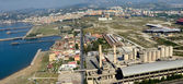 View of industrial area of Bagnoli Naples — Foto Stock