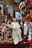 Famous puppets by Naples — Stock Photo