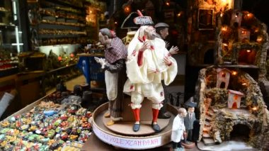 Naples,famous San Gregorio Armeno Strett — Video Stock