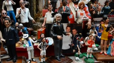 Puppets of celebrities — Vídeo Stock