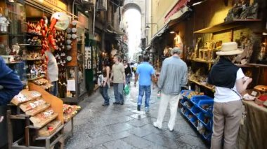 San gregorio street armeno naples italy — Video Stock