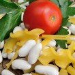Beans and pasta — Stock Photo