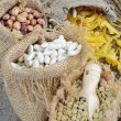 Legumes and pasta — Stock Photo