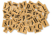 Letters cut out of newspaper — Stock Photo