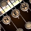 Stok video: News typewriter