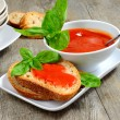 Stock Photo: Bruschettand tomatoe sauce