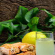 Stock Photo: Roccoco and Limoncello liqueur