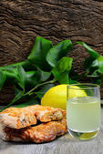 Roccoco and Limoncello liqueur — Stock Photo