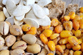 Nuts and grain cashews and pumpkin seeds — Stock Photo