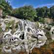 Stock Photo: Waterfalls water gardens of Royal Palace