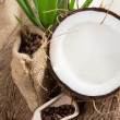 Coconut opened — Stock Photo #41636609