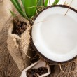 Coconut opened — Stock Photo
