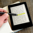 Ebook reader — Stock Photo #41997479