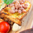 Bruschettand red beans — Stock Photo #41998029