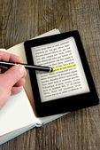 Ebook reader — Stock Photo
