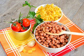 Pasta and beans — Stock Photo