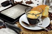 Ebook breakfast — Foto Stock