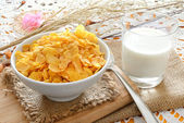 Cereal for breakfast — Stock Photo