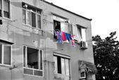 Building of slums — Stock Photo