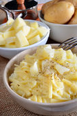 Pasta and potatoes — Stock Photo
