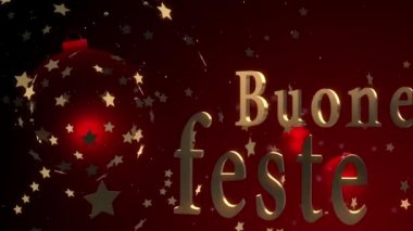 Motion background 3d text animated buone feste — Stock Video