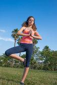 Girl yoga — Stock Photo