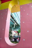 Metro wall painting — Stock Photo