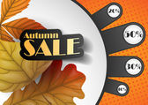 Autumn sale. — Stockvector