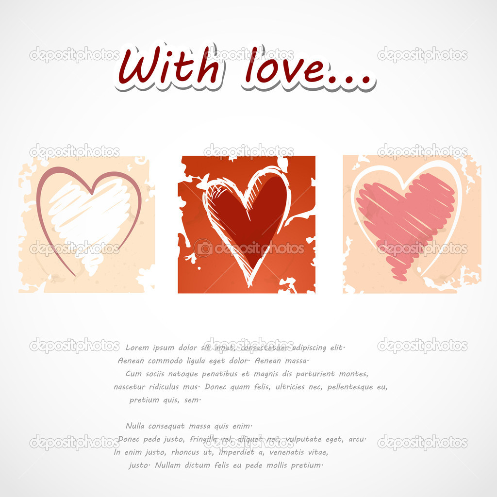Grunge heart background. Vector illustration. Eps 10. — Stock Vector #12268708