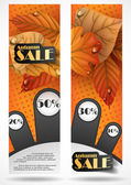 Autumn sale. — Stok Vektör