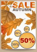 Jesień sprzedam. — Wektor stockowy