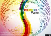 Abstrakt färgstarka bakgrund. — Stockvektor