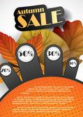 Herfst verkoop. — Stockvector