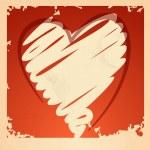 Grunge heart background. — Stock Vector