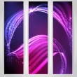 Abstract neon waves. — Stock Vector