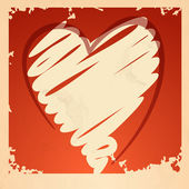 Fundo do coração de grunge. — Vetorial Stock
