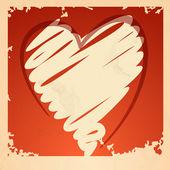 Sfondo cuore grunge. — Vettoriale Stock