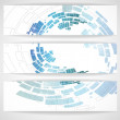 Abstract blue banner. — Stock Vector #14336925