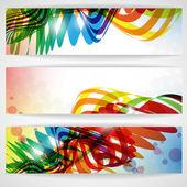 Abstrakte farbenfrohe banner. — Stockvektor