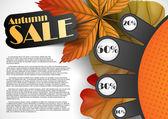 Vendita d'autunno. — Vettoriale Stock