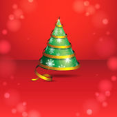 Stylized ribbon Christmas tree. — Cтоковый вектор