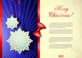 Elegant Christmas background. — Stock Vector