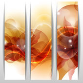 Floral summer banners — Stock Vector