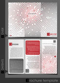Brochure template design. — Stock Vector