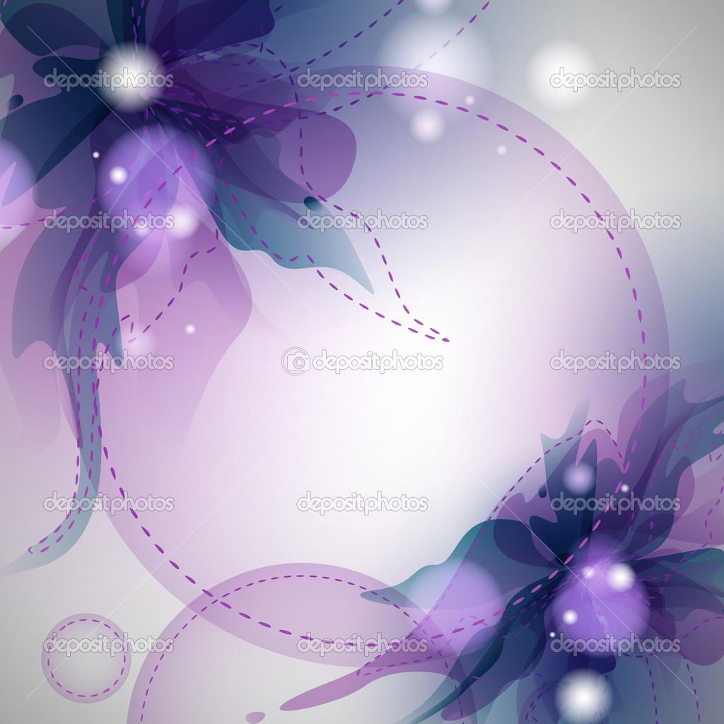 抽象花卉背景.矢量插画— 矢量图片作者 helenstock