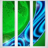 Eco green background. — Stock Vector