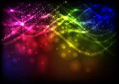 Soyut neon dalgalar. — Stok Vektör