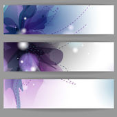 Floral zomer banners. — Stockvector